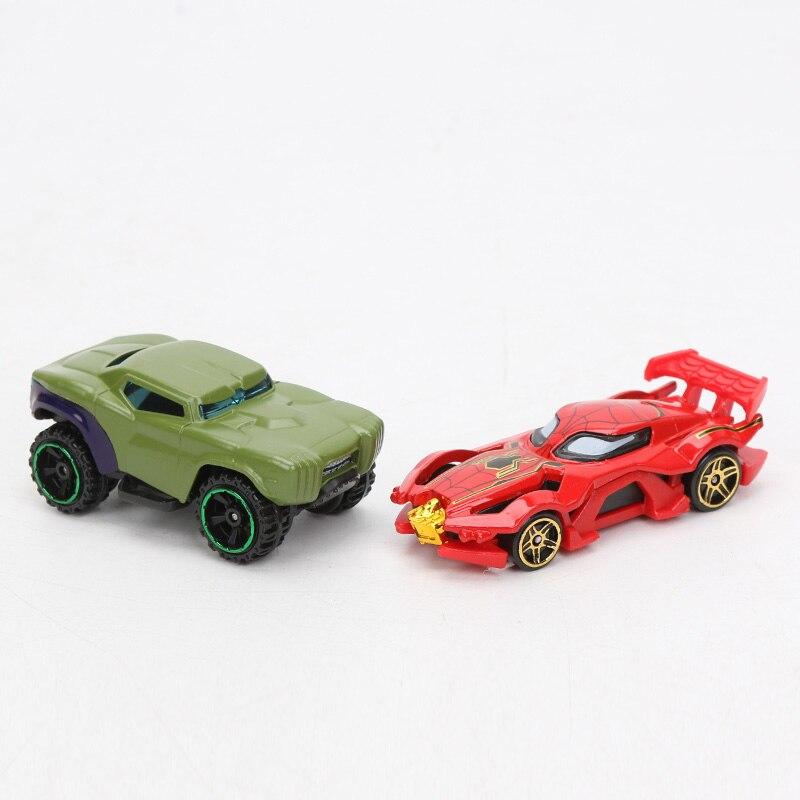 Pack of 7 Marvel Toys Avengers 4 Endgame Alloy Cars Set Truck Model Spider-man Captain America Ironman Hulk Superheros Car Toy
