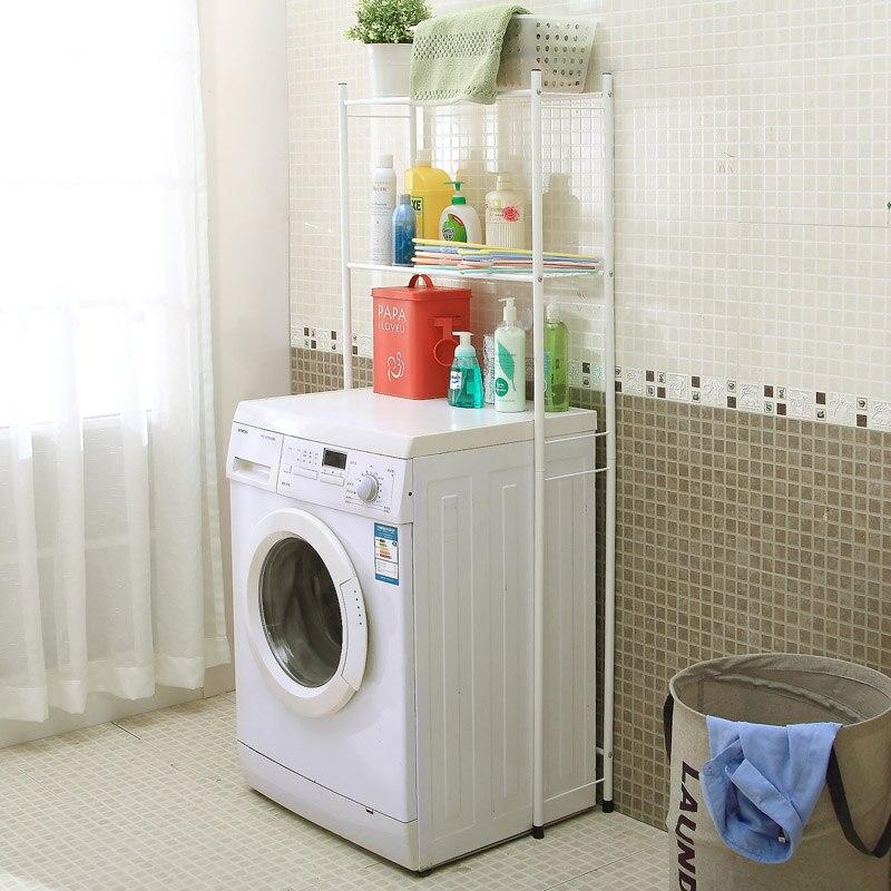 amusing bathroom floor towel rack   Large double layer washing machine floor stand bathroom ...