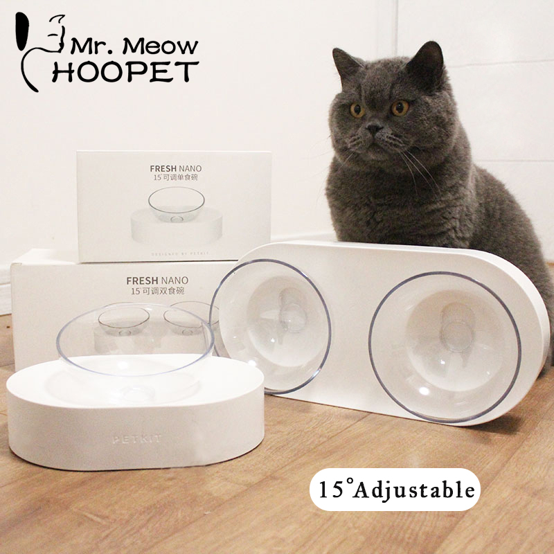Hoopet One Dual Port Dog Water Dispenser Feeder Utensils Bowl Cat Kitten Drinking Fountain Food Dish Pet Bowl Goods