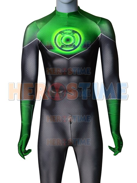 Green Lantern 3D Printing Cosplay Costume Spandex Zentai Catsuit Halloween Costumes Custom Made Hot Sale