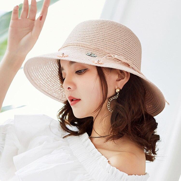 Ms Sun Tide For Hats Hombre Limited Version Fresh Tethered Summer Hat Gorra Women Flower Little New Of Korean Straw 2018 Beach Zwfqa1