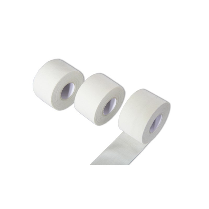 6 Rolls 50/38/25mm 100% Cotton White Athletic Tape Elastoplast Easy Tear By Hand With Zigzag Edges Muscle Elastic Bandage Sports