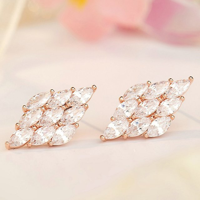Crystal Zirconia Long Earrings