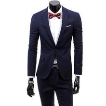 2016 new fashion boutique men Business suits / men's one button wedding Blazers suit / male two pieces pants suit jacket sets