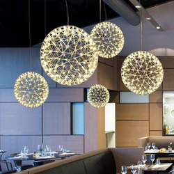 DX Liontin Lampu Modern Hanglamp Pendant Light untuk Ruang Makan Desain LED Pendant Kembang Api Hanglamp