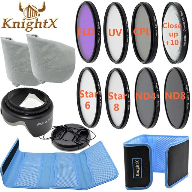 KnightX FLD UV CPL ND Line Star Filter Kit Color set For Nikon Canon D3300 700D 100D 1200D Camera DSLR 49MM 52MM 55MM 58MM 67MM
