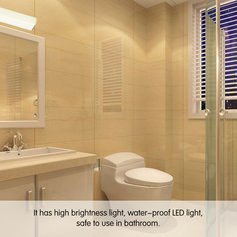 Konesky 12W LED Light Wall Lamp 2 Bare Wiring Wall Light Waterproof Mirror Bathroom Lamp for konesky 12w led light wall lamp 2 bare wiring wall light waterproof