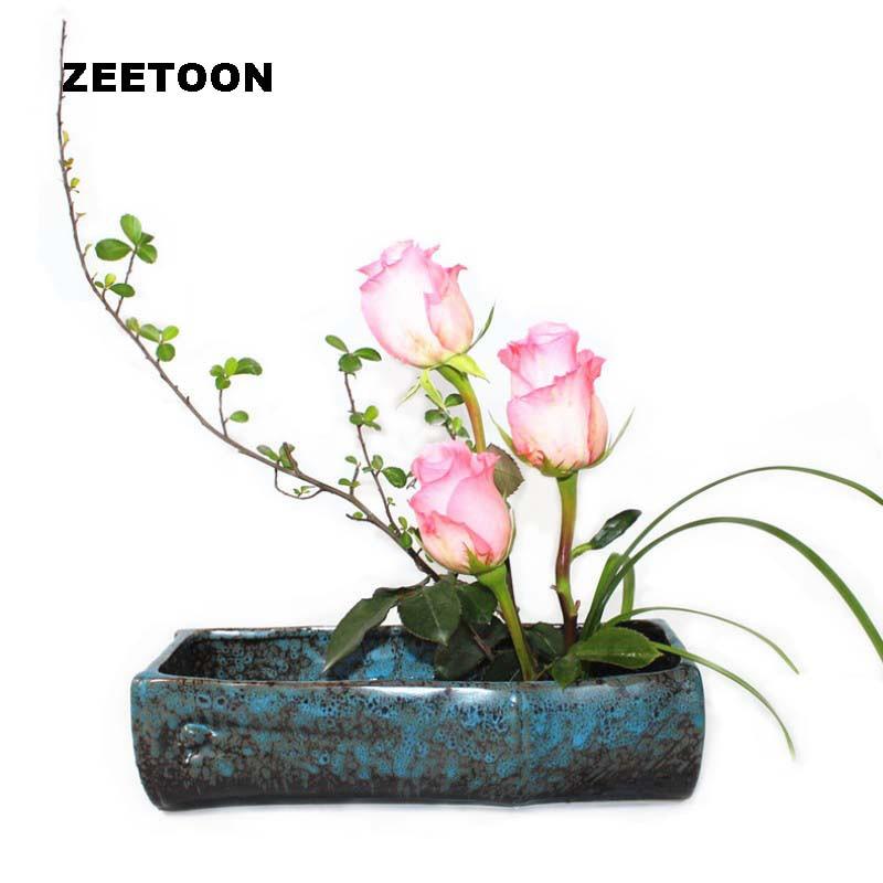 Japanese Flowers Coarse Pottery Vase hydroponic pots Jardiniere Ikebana Tabletop Flower Pot Flowers Arranging Vintage Home Decor