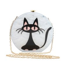 Designer Women Party Handbags Funny Cat Bag Circular Evening Clutch Bags Brands Girls Crossbody Messenger Bags Sweet Lolita Bag