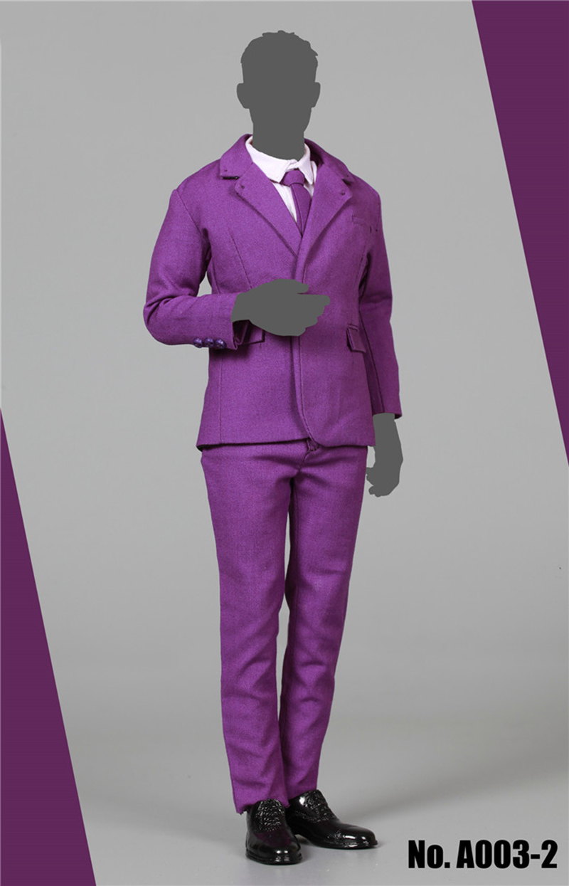 1/6 Purple Male Clothes Suit Set with Tie for 12 Bodeis1/6 Purple Male Clothes Suit Set with Tie for 12 Bodeis