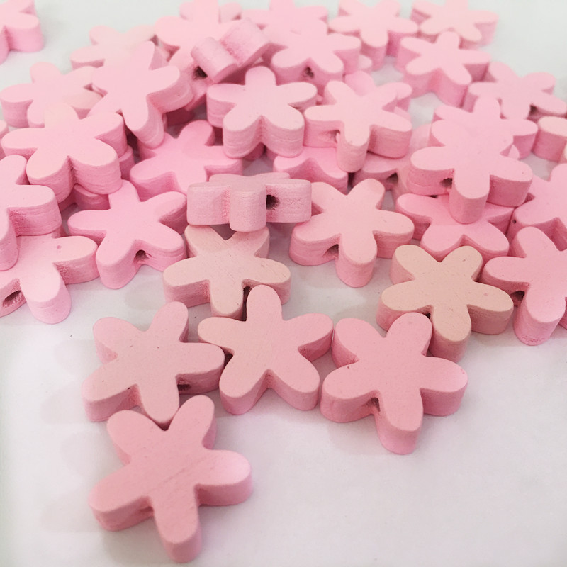 hot sales 100pcs pink Wooden Buttons DIY craft Scrapbooking Crafts sewing accessories for clothing home decoration kids gift