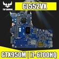 Обмен! Материнская плата для ноутбука Asus ROG GL552VW GL552VL GL552VX GL552V ZX50V материнская плата rev2.1 I7-6700HQ GTX950M