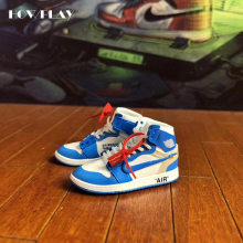 de85f0915a5 Howplay AJ1 OW sneaker keychain 3D jordan backpack pendant basketball shoes  model creative gift for air jordan off white fans