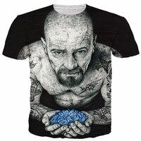Inked Heisenberg T Shirt Badass Tattooed Breaking Bad Walter White Vibrant Tees Women Men Summer Style