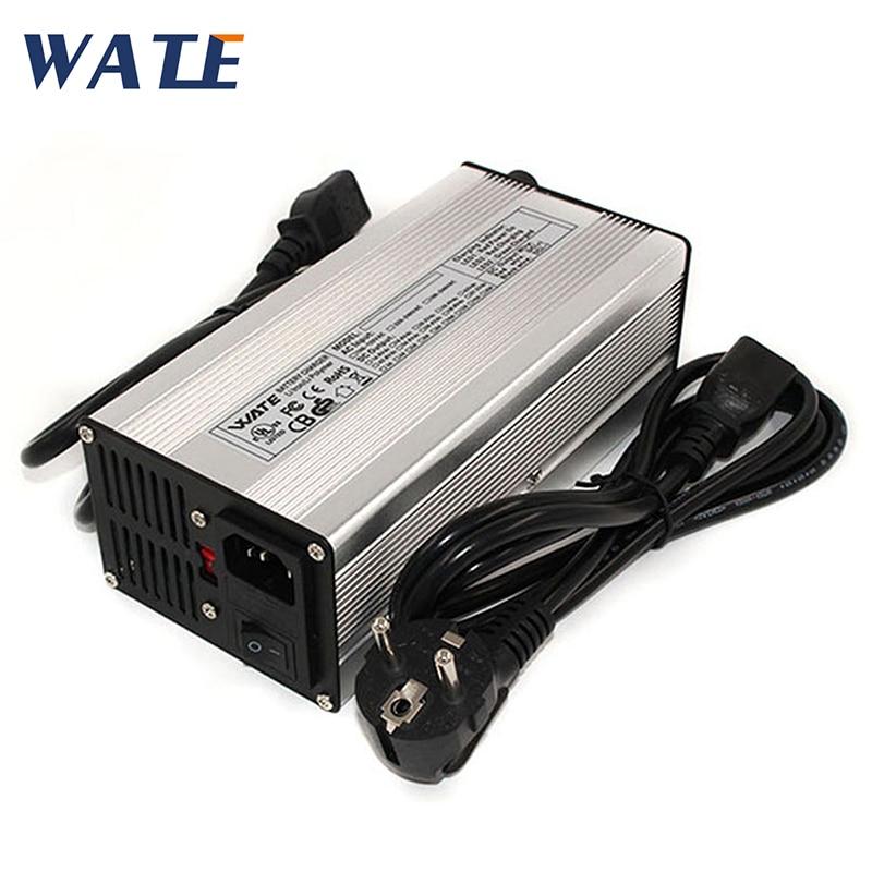 Chargeur de batterie au plomb intelligent 60 V 4A, chargeur de batterie de voiture avec pince crocodile