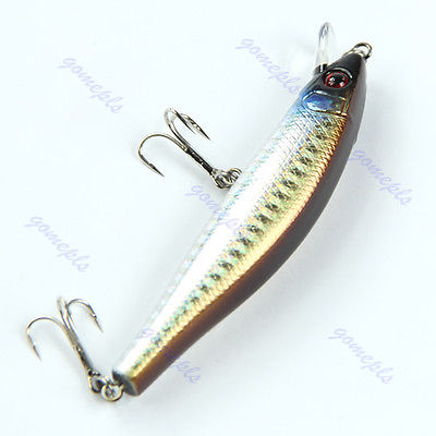 1pc Sinking 10g 95mm Fishing Lures Crankbait Crank Bait Tackle Treble Hook wldslure 1pc 54g minnow sea fishing crankbait bass hard bait tuna lures wobbler trolling lure treble hook