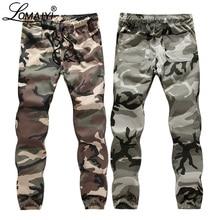 Мужские брюки-карго LOMAIYI, мужские весенние/осенние камуфляжные штаны в стиле милитари, мужские камуфляжные брюки, мужские брюки-карго, BM309