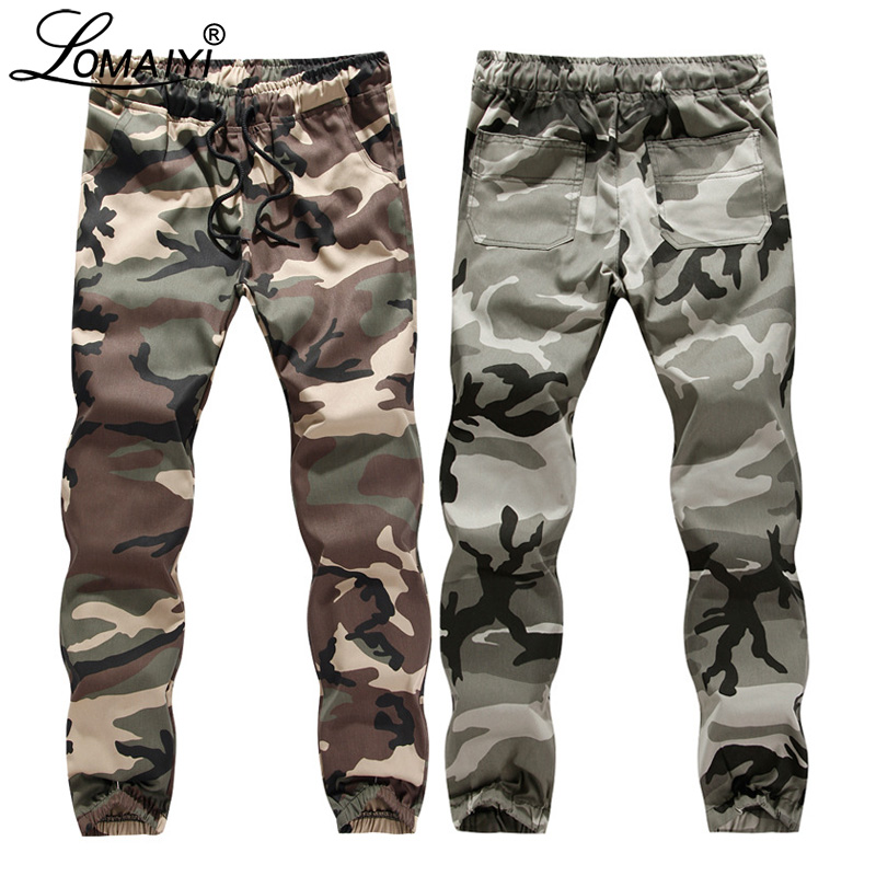 LOMAIYI Mens Cargo Pants Men Spring/Autumn Military Style Camo Joggers Pants Men's Camouflage Trousers Male Cargo Pants BM309