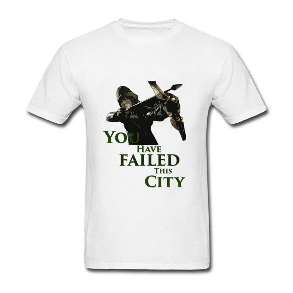 Green Arrow T Shirt Men Summer Trendy Mix You have Failed this City Tops tshirt Cotton Big Boy Camisetas