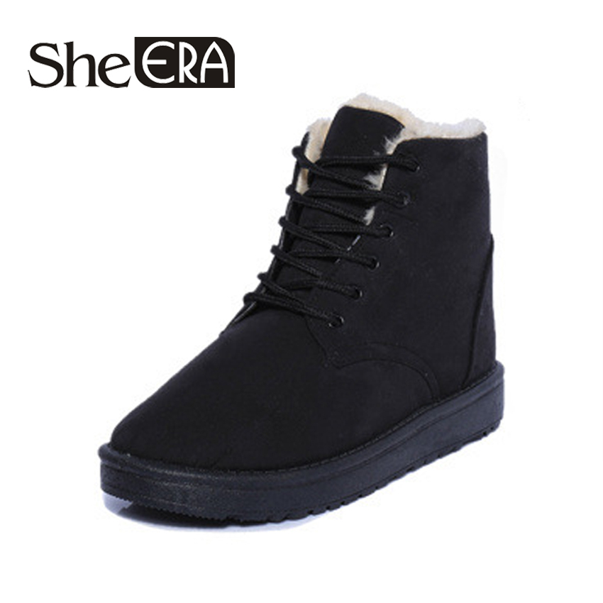 2018 Women Boots Winter Super Warm Snow Boots Women Suede Ankle Boots For Female Shoes Botas Sapato Feminino Shoes Woman She ERA цена