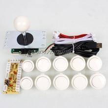 Arcade Kits Parts Zero Delay USB Encoder To PC Games Original Sanwa 8 Ways Joystick Bundles