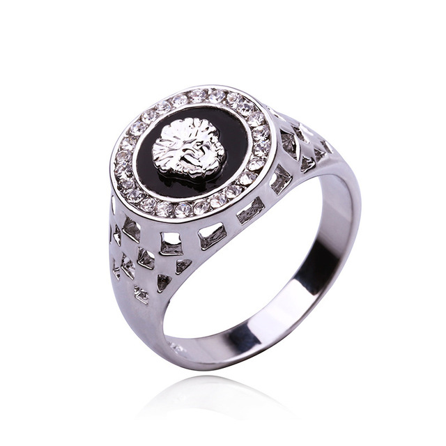Classic Men's Punk Style Ring 4