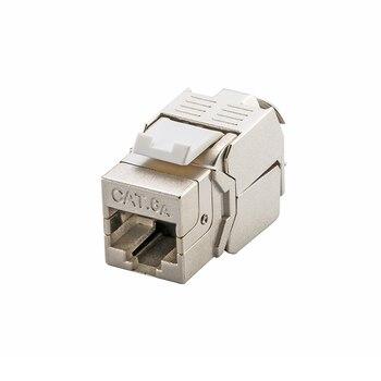 (24 Uds. Por lote) conector de red 10G Cat6a (CAT.6A clase Ea) RJ45 conector de red blindado Keystone-también adecuado para cable CAT7