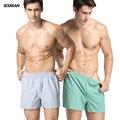 Bxman a cuadros de color claro patrón de tejido de algodón de alta calidad de los hombres atractivos del boxeador shorts hombres underwear undershort 2 unid/lote