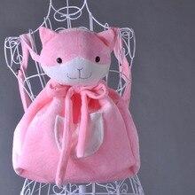 Cosplay nanami chiaki cos cartoo anime danganronpa 3 halloween natal meninas bonito gato rosa mochila adereços sacos