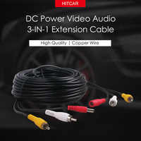 12V 24V Car Truck Bus Parking Kit CCTV System 5 10 15 20 Meters DC Power RCA AV Video Audio 3 IN 1 Extension Cable
