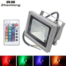 Ultrathin LED Flood Light 10W 20w 30w 50w LED Floodlight IP65 Waterproof AC85V-265V RGB LED Spotlight outdoor lighting