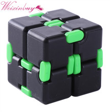 Funny Infinity Cube Fidget Cube Anti Stress Magic Finger spinners Hand Out Door Game Toys Metal