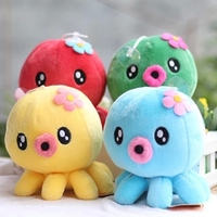 Free Shipping 1pc 18cm Mini Kawaii Octopus Toy Stuffed Animal Plush Doll Toys For Children Baby