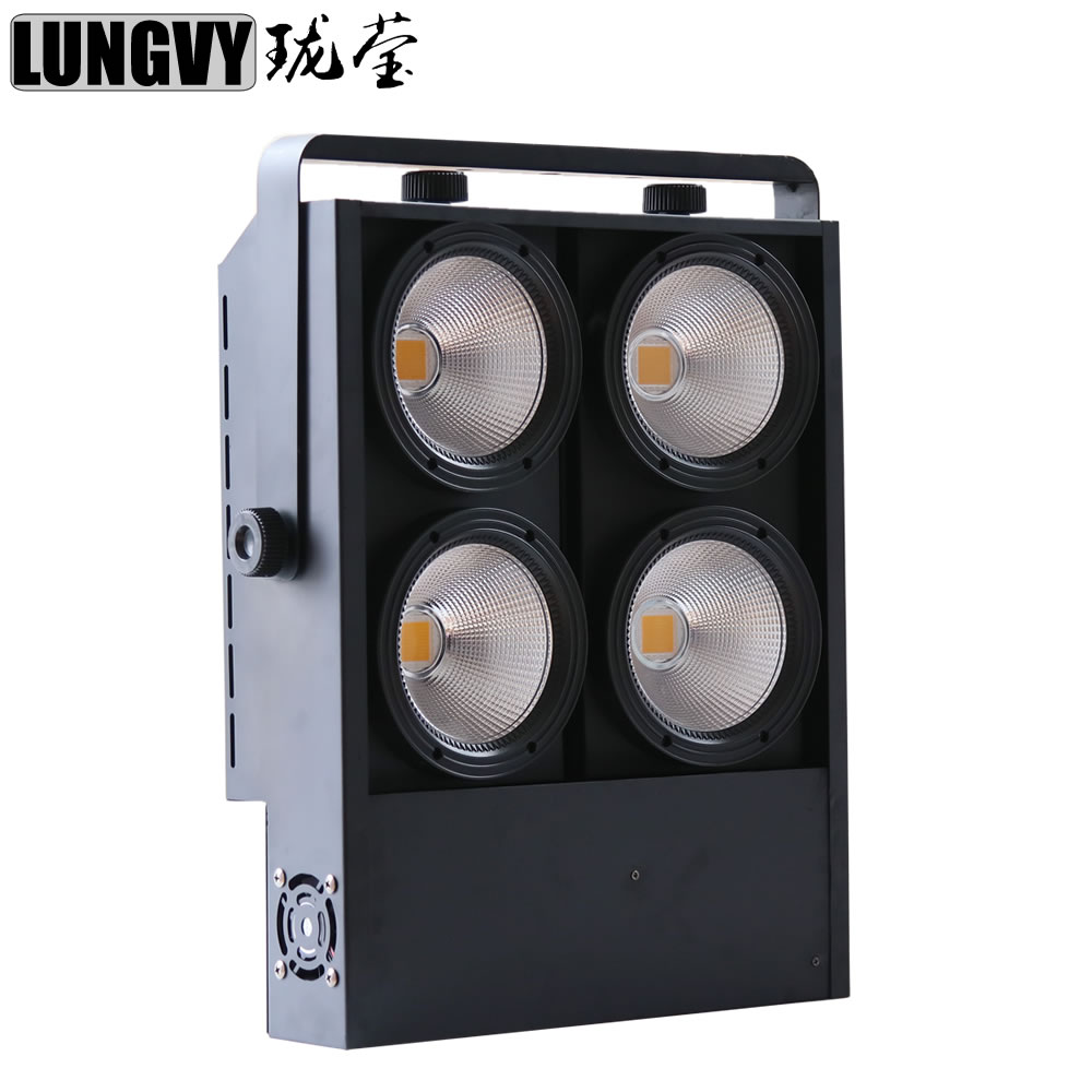 Free Shipping Best Professional Blinder 4x100w Warm White And Cold White LED COB Audience Light For Disco Dj KTV