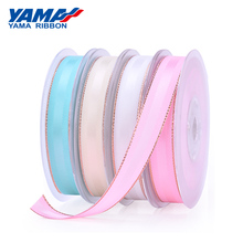 YAMA Grosgrain Pink Gold Edge Satin Ribbon 100yards 9 16 25 38 mm and 3/8 5/8 1 1-1/2 inch Hair Bow Party Christmas Ribbons
