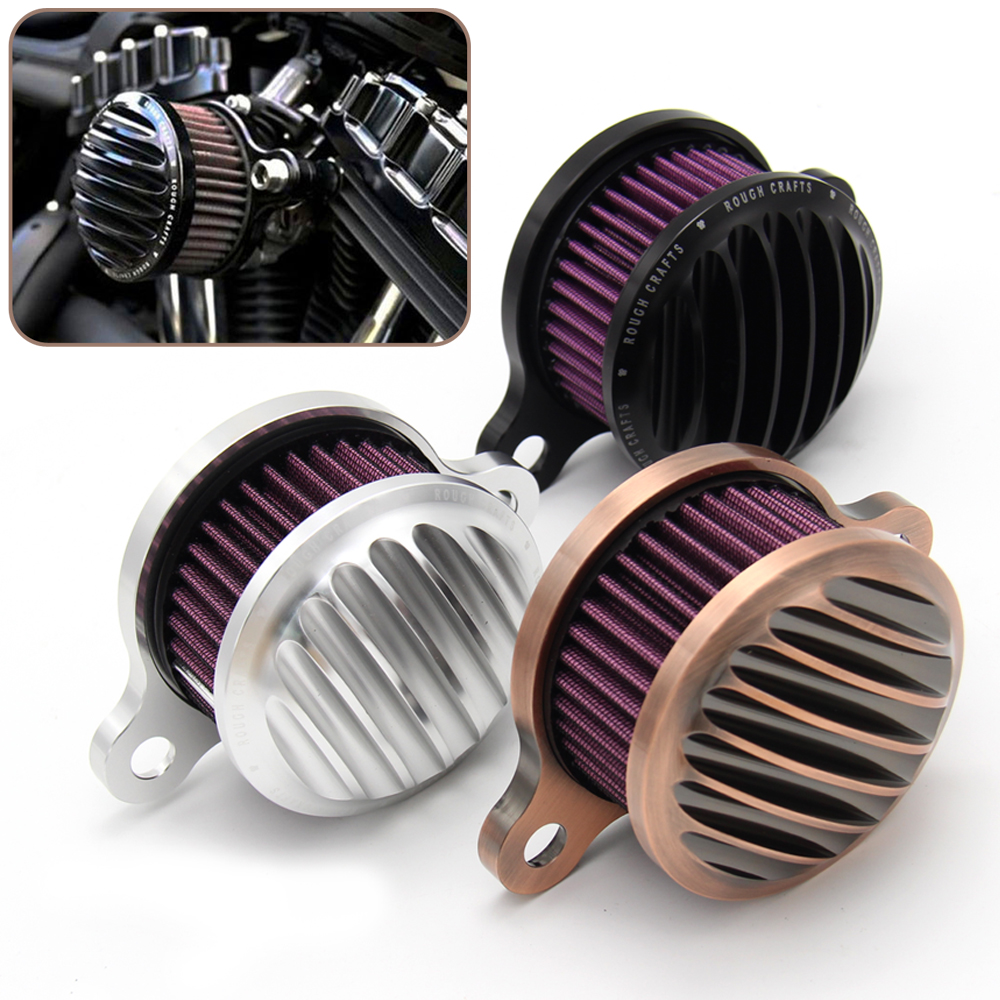 CNC Bronze Air Filter Motorcycle Intake Filter System Kit Air Cleaner For Harley Sportster XL883 XL1200 1991 1992 1993-2016 2015