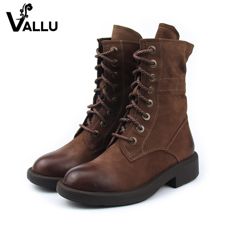 Sheepskin Winter Boots Women Shoes New Arrival Block Heel Lace-up Ladies Leather Shoes Ankle Women' s Boots Shoes samool 2017 new arrival women boots lace up martin boots women ankle fur boots brand winter women shoes female high heel shoes page 9