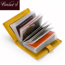 2019 Business Credit Card Holder Genuine Leather Women Walle