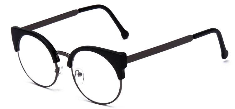 9649d5d5cb12 Dropwow Women Glasses Cat Eye Eyeglasses Vintage Half Frame Metal ...