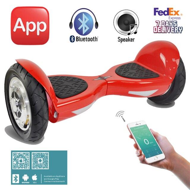 10 polegada Hoverboard Inteligente auto balanceamento scooter elétrico 2 duas  rodas skate hoverboard 10 polegada UL2272 fd9d1aa68c7