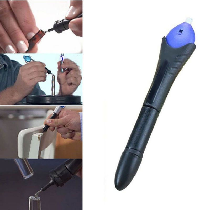 1PC 5 Second Fix UV Light Repair Tool With Glue Super Powered Liquid Plastic Welding (Refill Or UV Light)
