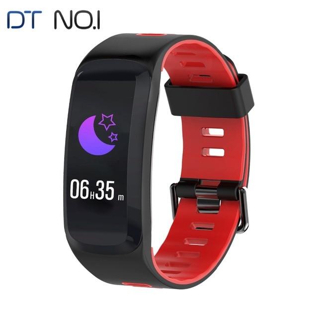 DTNO.I F4 Smartband IP68 Bluetooth 4.0 Multi Sport Fitness Bracelet Heart Rate Monitor BP BO Outdoor Altitude UV Stylish Band