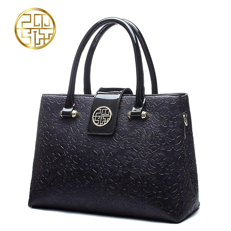 ФОТО Pmsix 2017 new fashion PU shoulder bag middle-aged women handbag embossed high-capacity mother bag P140012
