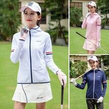 Весна гольф костюмы женская рубашка с длинным рукавом бальная куртка капюшоном кардиган на молнии Спортивная Высокое качество