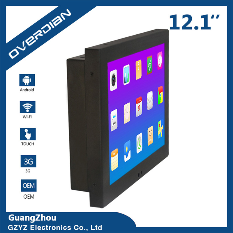 12/12Inch LCD Screen Industrial Computer Android System Built in WiFi Resistance Touch S ...