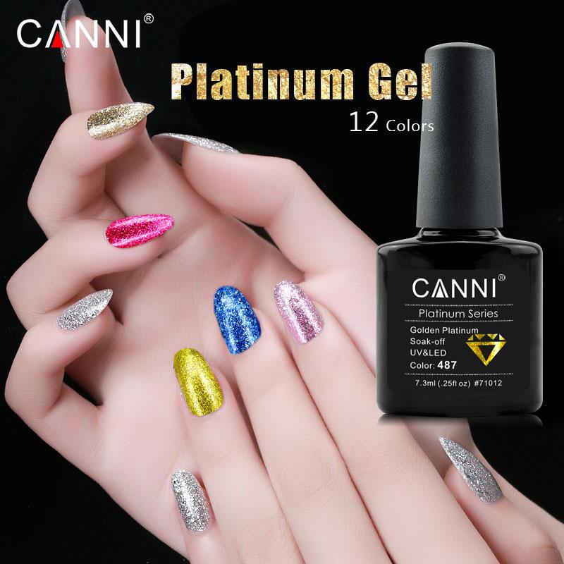 New CANNI perfect platinum gel color coat long lasting chrome nail ...