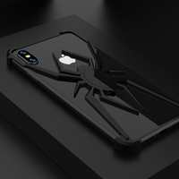 Stylish Spider Element 2 in 1 Cover Case For iPhone XS MAX XR XS X 7 8 Plus Luxury Slim Aluminum Metal Shockproof Bumper Case
