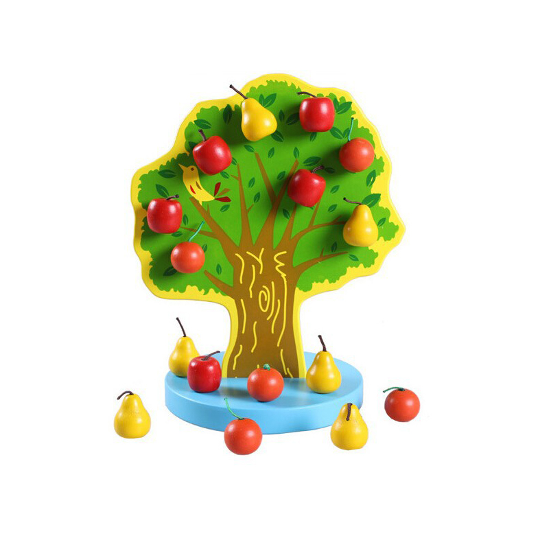 Montessori Magnetic Tree Kids Intelligence Learning Education Baby Wooden Materials Math Games Toys