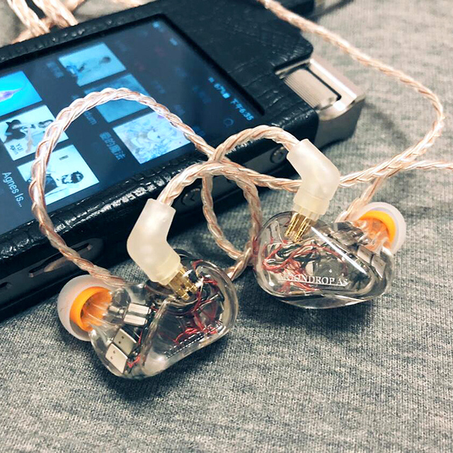 MoonDrop A8 Knowles 8 BA Unit Driver (Single-sided) HiFi AUDIO In-Ear Earphone Public Template IEM with Detachable Cable 6