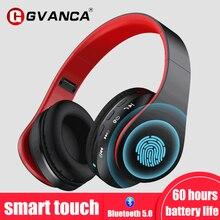 GVANCA G1 Smart Touch 5.0 Bluetooth Headphones  Headset HiFi Deep Bass Headphone Earbuds 60 Hrs Play time Support TF card